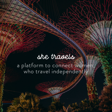 She travels